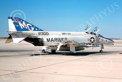 F-4USMC 00159 McDonnell Douglas F-4 Phantom II USMC 152300 VMFA-321 HELL'S ANGELS MG Andrews AFB 25 Oct 1978 military airplane picture by Robert F Dorr