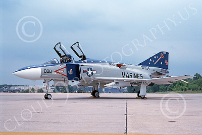 F-4USMC 00177 McDonnell Douglas F-4 Phantom II USMC 3904 VMFA-321 HELL'S ANGELS MG Andrews AFB 10 May1991 military airplane picture by Mark Ardonado