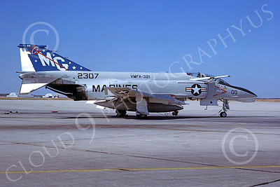 F-4USMC 00287 McDonnell Douglas F-4 Phantom II USMC 152307 VMFA-321 HELL'S ANGELS MG Andrews AFB 25 Oct 1978 military airplane picture by Robert F Dorr