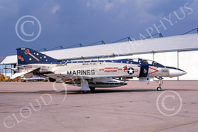F-4USMC 00131 McDonnell Douglas F-4 Phantom II USMC 3904 MAG-41 NAF Washington Aug 1991, by Michael Grove, Sr