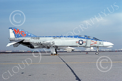 F-4USMC 00157 McDonnell Douglas F-4 Phantom II USMC 0628 VMFA-321 HELL'S ANGELS NAF Washington April 1976, by Michael Grove, Sr