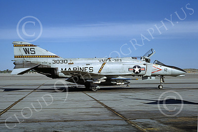 F-4USMC 00247 McDonnell Douglas F-4 Phantom II USMC 3030 VMFA-323 DEATH RATTLERS WS MCAS Yuma April 1982 military airplane picture by Michael Grove, Sr