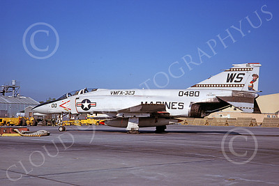 F-4USMC 00241 McDonnell Douglas F-4 Phantom II USMC 150480 VMFA-323 DEATH RATTLERS MCAS El Toro Aug 1980 military airplane picture by Doug Olson