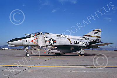 F-4USMC 00545 A static McDonnell Douglas F-4N USMC 153030 VMFA-323 DEATH RATTLERS WS code NAS Alameda 8-1982 military airplane picture by Michael Grove, Sr