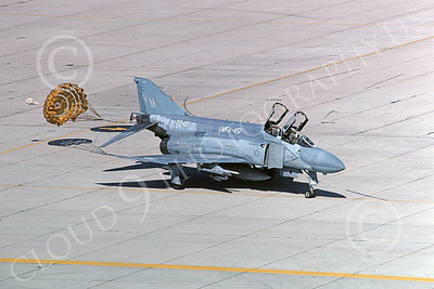 F-4USMC 00299 A taxing McDonnell Douglas F-4 Phantom II USMC 157248 VMFA-451 WARLORDS VM MCAS Yuma April 1985 military airplane picture by Peter J  Mancus