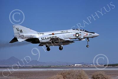 F-4USMC 00176 A landing McDonnell Douglas F-4J Phantom II USMC 1553791 VMFA-451 WARLORDS VM NAS Fallon 9-1976 military airplane picture by Michael Grove, Sr