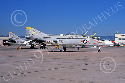 F-4USMC 00547 A taxing McDonnell Douglas F-4J USMC 2982 VMFA-531 GREY GHOSTS EC code NAS Alameda 10-1974 military airplane picture by Michael Grove, Sr