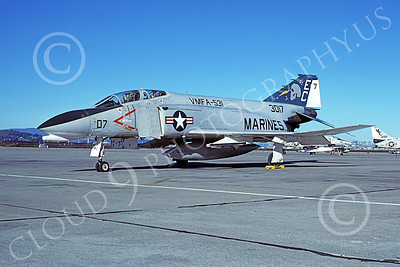 F-4USMC 00579 A static McDonnell Douglas F-4N USMC 153017 VMFA-531 GREY GHOSTS EC code NAS Alameda 11-1977 military airplane picture by Michael Grove, Sr
