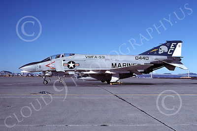 F-4USMC 00511 McDonnell Douglas F-4 Phantom II USMC 1550440 VMFA-531 GREY GHOSTS EC NAS Alameda Nov 1977 military airplane picture by Michael Grove, Sr