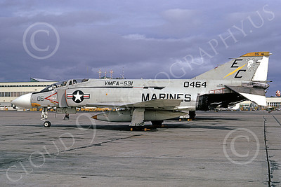 F-4USMC 00199 McDonnell Douglas F-4B Phantom II USMC 1550464 VMFA-531 GREY GHOSTS EC NAS Alameda Oct 1973 military airplane picture by Michael Grove, Sr