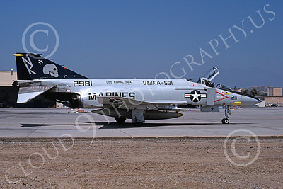 F-4USMC 00555 A taxing McDonnell Douglas F-4N USMC 152981 VMFA-531 GREY GHOSTS NK code USS Coral Sea MCAS El Toro 7-1979 military airplane picture by Michael Grove, Sr