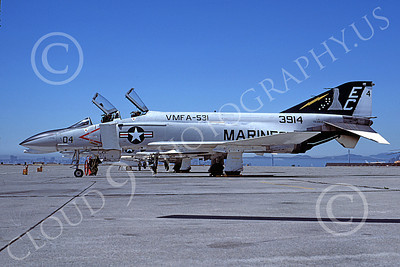 F-4USMC 00551 A static McDonnell Douglas F-4N USMC 3914 VMFA-531 GREY GHOSTS EC code NAS Alameda 9-1978 military airplane picture by Michael Grove, Sr