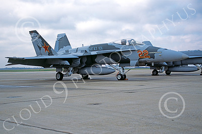 F-18USMC 00006 A static McDonnell Douglas F-18 Hornet USMC 163152 VMFAT-101 SHARPSHOOTERS NAF Washington 11-2004 military airplane picture by Richard Briones