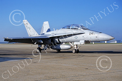 F-18USMC 00061 A static McDonnell Douglas F-18D Hornet USMC 163447 VMFAT-101 SHARPSHOOTERS NAF Washington 10-2004 military airplane picture by Phil Barnabas