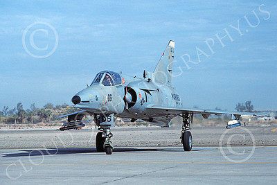 F-21-USMC 00039 A taxing Israeli Aircraft F-21 Kfir jet fighter USMC VMFT-401 SNIPERS MCAS Yuma 2-1989 military airplane picture by Mick Roth