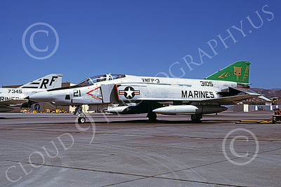 F-4USMC 00138 A static McDonnell Douglas RF-4B Phantom II USMC 153105 VMFP-3 EYES OF THE CORPS RF MCAS El Toro June 1979 military airplane picture by Michael Grove, Sr