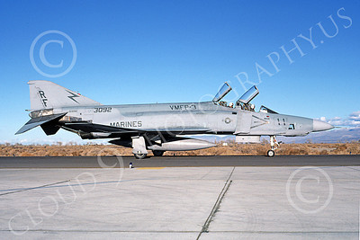 F-4USMC 00207 A taxing McDonnell Douglas RF-4B Phantom II USMC 153092 VMFP-3 EYES OF THE CORPS RF NAS Fallon 11-1986 military airplane picture by Michael Grove, Sr