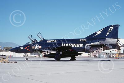 F-4USMC 00143 A static McDonnell Douglas RF-4B Phantom II USMC 157351 VMFP-3 EYES OF THE CORPS RF MCAS El Toro July 1990 military airplane picture by Michael Grove, Sr