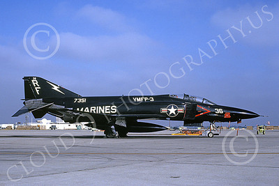 F-4USMC 00096 McDonnell Douglas RF-4B Phantom II USMC 157351 VMFP-3 EYES OF THE CORPS RF MCAS El Toro 7-1990 military airplane picture by Michael Grove, Sr