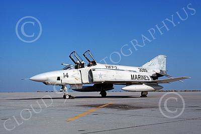 F-4USMC 00107 McDonnell Douglas RF-4B Phantom II USMC 153095 VMFP-3 EYES OF THE CORPS RF MCAS Yuma Oct 1980 military airplane picture by Michael Grove, Sr