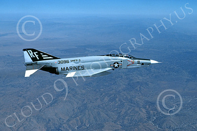 F-4USMC 00092 McDonnell Douglas RF-4B Phantom II USMC 153096 VMFP-3 EYES OF THE CORPS RF 8-1976 military airplane picture by Roy Stafford