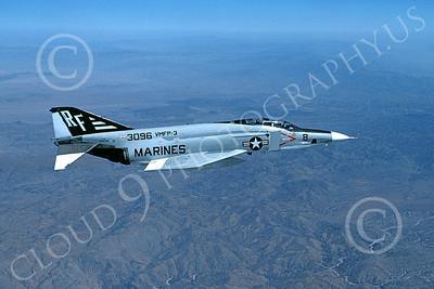 F-4USMC 00092 McDonnell Douglas RF-4B Phantom II USMC 153096 VMFP-3 EYES OF THE CORPS RF 8-1976 military airplane picture by Roy Stafford