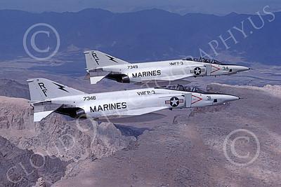 F-4USMC 00094 McDonnell Douglas RF-4B Phantom II USMC 157346 VMFP-3 EYES OF THE CORPS RF 10 July 1990 military airplane picture by Robert L Lawson