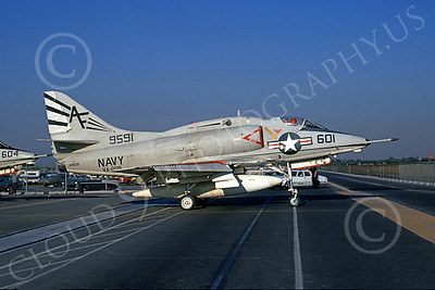 A-4USN 00234 A taxing USN Douglas A-4L Skyhawk, 149591, attack jet, VA-209, Long Beach 7 Aug 1971, military airplane picture, by Michael Grove, Sr