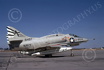 A-4USN 00232 A static USN Douglas A-4L Skyhawk, 148487, attack jet, VA-209, MCAS Yuma 3-1971, military airplane picture, by Michael Grove, Sr