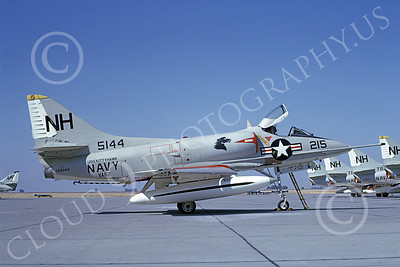 A-4USN 00100 A USN Douglas A-4 Skyhawk attack jet, 145114, VA-112 BOMBING BRONCOS USS Kitty Hawk, NAS Lemoore 10-1968, airplane picture, by Duane A Kasulka