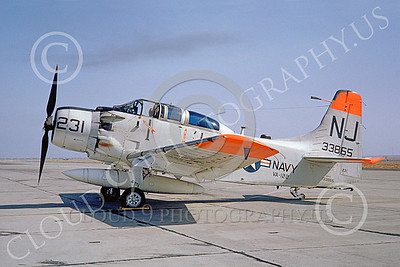 A-1USN 00043 Douglas AD-5 Skyraider USN 133865 VA-122 FLYING EAGLES NAS Lemoore Sept 1962, by Doug Olson