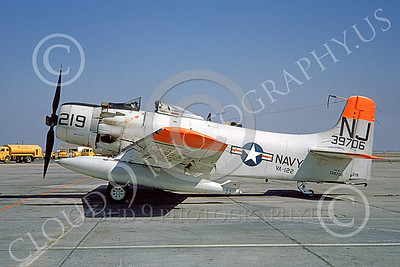 A-1USN 00039 Douglas AD-6 Skyraider USN 139706 VA-122 FLYING EAGLES NAS Lemoore Sept 1962, by Doug Olson