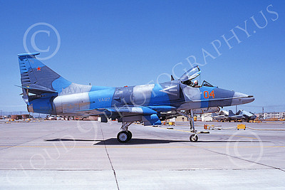 A-4USN 00340 A taxing Douglas A-4 Skyhawk attack jet US Navy 154992 VA-127 BATMEN NAS Fallon 6-1984 military airplane picture by Michael Grove, Sr