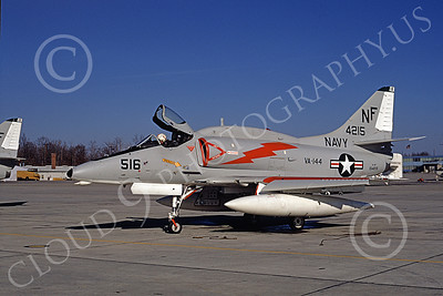 A-4USN 00062 A US Navy Douglas A-4F Skyhawk attack jet, 154215, VA-144 ROAD RUNNERS, NAF Andrews 31 Jan 1970, airplane picture, by Stephen H Miller