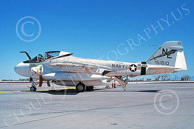 KA-6DUSN 00015 A static Gruman KA-6D Intruder USN 151810 VA-145 SWORDSMEN USS Ranger NAS Fallon 10-1981 military airplane picture by Michael Grove, Sr