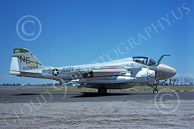 KA-6DUSN 00005 A taxing Gruman KA-6D USN 152894 VA-145 SWORDSMEN USS Ranger NAS Fallon 6-1975 military airplane picture by Michael Grove, Sr