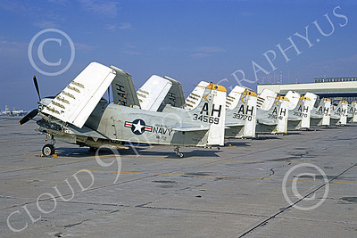 A-1USN 00013 Douglas A-1H Skyraider USN 134569 VA-152 WILD ACES USS Oriskany NAS Alameda Feb 1968, by Peter B Lewis