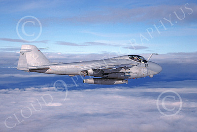 A-6EUSN 00014 A flying Gruman A-6E Intruder USN 159314 VA-165 BOOMERS 12-1999 military airplane picture by Rick Morgan