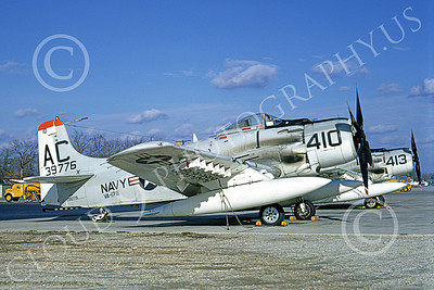 A-1USN 00017 Douglas A-1H Skyraider USN 139776 VA-176 THUNDERBOLTS March 1968, by Clay Janson