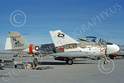KA-6DUSN 00055 A static Gruman KA-6D Intruder USN 149951 VA-196 MAIN BATTERY USS Independence NAS Fallon 12-1989 military airplane picture by Michael Grove, Sr