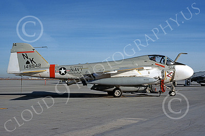 KA-6DUSN 00051 A static Gruman KA-6D Intruder USN 149942 VA-196 MAIN BATTERY USS Independence NAS Fallon 12-1989 military airplane picture by Michael Grove, Sr