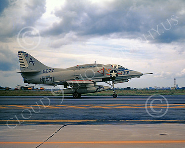 A-4USN 00245A A taxing USN Douglas A-4 Skyhawk, 145077, VA-203 , attack jet, NAS 9-1971, military airplane picture, by L B Sides