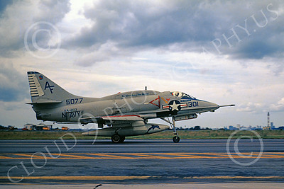 A-4USN 00245 A taxing USN Douglas A-4 Skyhawk, 145077, VA-203 , attack jet, NAS 9-1971, military airplane picture, by L B Sides