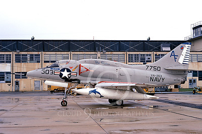 A-4USN 00246 A static USN Douglas A-4 Skyhawk, 147756, attack jet, VA-203 BLUE DOLPHINS, NAS Jax 13 Aug 1972, military airplane picture, by L B Sides