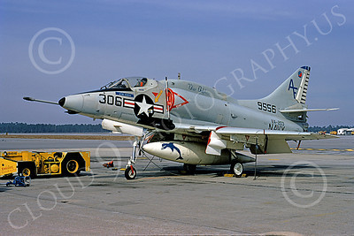 A-4USN 00248 A static USN Douglas A-4L Skyhawk, 149556, attack jet, VA-203 BLUE DOLPHINS, NAS Jax 21 Feb 1973, military airplane picture, by L B Sides