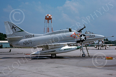 A-4USN 00226 A static USN Douglas A-4L Skyhawk, 1496004, attack jet, VA-205 GREEN FALCONS, 11-1975, military airplane picture, by L B Sides