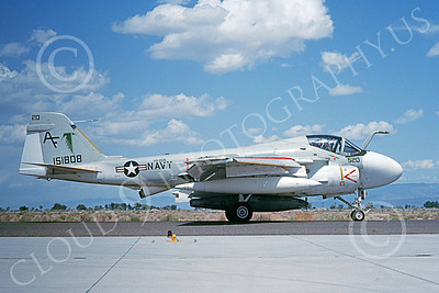 KA-6DUSN 00019 A taxing Gruman KA-6D Intruder USN 151808 VA-205 GREEN FALCONS NAS Fallon 5-1992 military airplane picture by Michael Grove, Sr