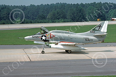 A-4USN 00113 A USN Douglas A-4 Skyhawk attack jet, 145101, VA-205 GREEN FALCONS, 11-1975, airplane picture, by Michael Grove, Sr