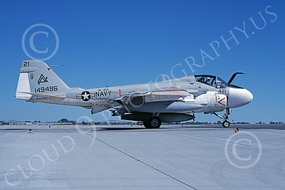 KA-6DUSN 00093 A taxing Gruman KA-6D Intruder USN 149486 VA-304 FIREBIRDS NAS Fallon 7-1989 military airplane picture by Michael Grove, Sr