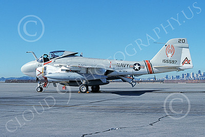 KA-6DUSN 00095 A static Gruman KA-6D Intruder USN 155597 VA-304 FIREBIRDS NAS Alameda 1-1991 military airplane picture by Michael Grove, Sr